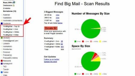 Gana espacio en Gmail localizando los correos grandes con Find Big Mail
