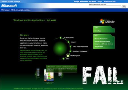 Windows Mobile Apps, tienda de aplicaciones