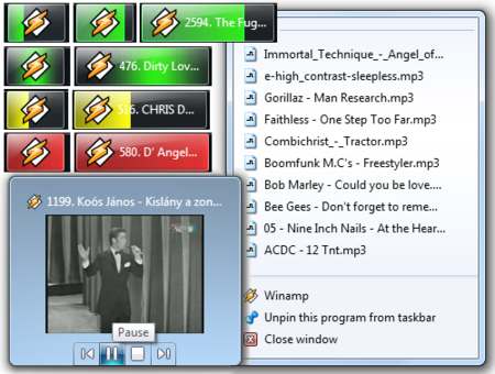 Integra Winamp en Windows 7