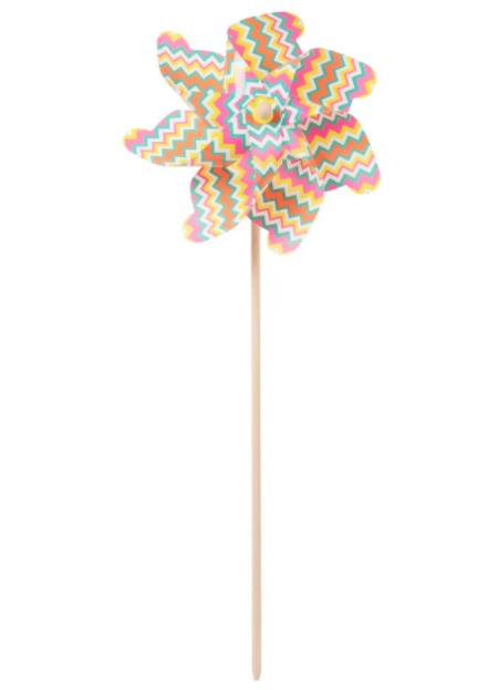 Molino De Viento Con Motivos Graficos Multicolores