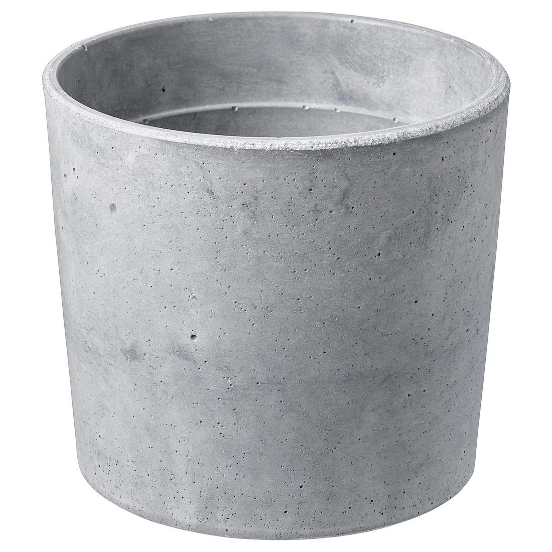 BOYSENBÄR Macetero, int/ext gris claro, 12 cm 4€