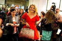 El Furla Piper Lux del brazo de Natalia Vodianova en la VFNO de Moscú