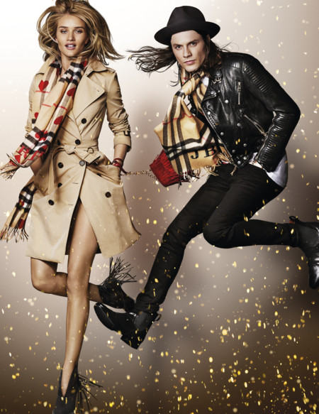 Rosie Huntington Whiteley And James Bay In The Burberry Festive Campaign Shot By Mario Testino
