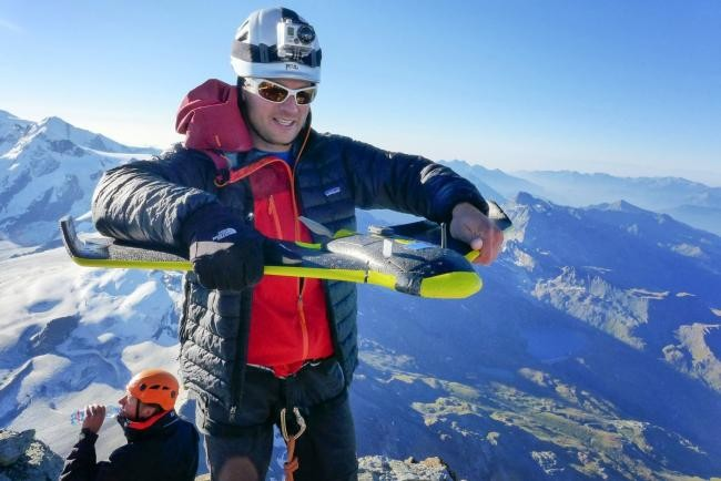 Creando una representación 3D del Monte Cervino con los drones de SenseFly