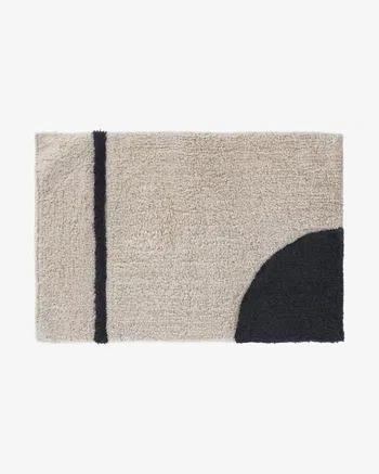 Alfombra de baño Maica 40 x 60 cm semicírculo
