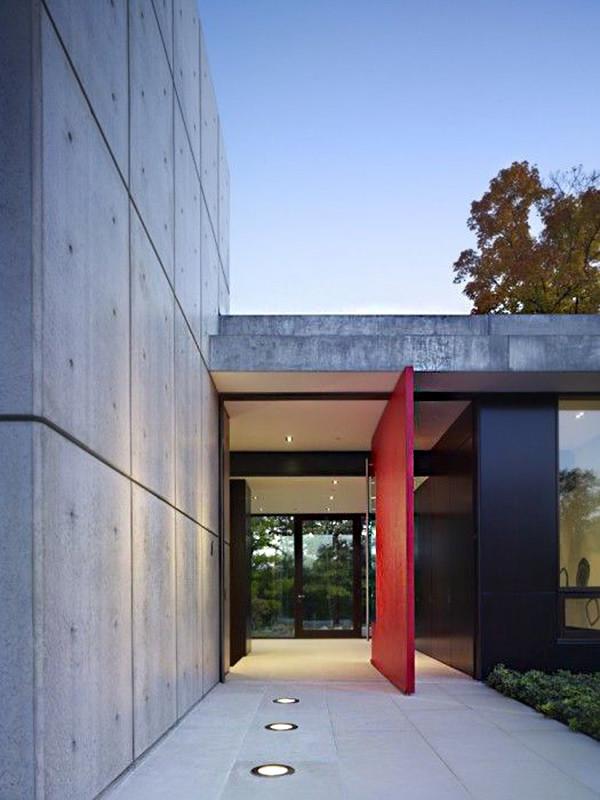 Moderna Puerta Roja 08