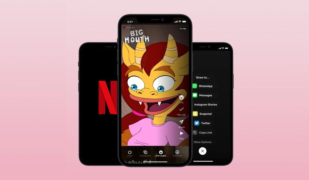 Netflix crea su propio TikTok: un feed de vídeos cortos extraídos de sus comedias más populares