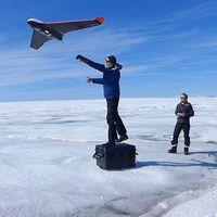 La inestabilidad del hielo de Groenlandia ha sido constatada por drones