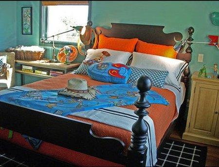 Un dormitorio con inspiración vaquera.