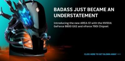 Alienware Area-51, ahora con dos 9800 GX2 en SLI