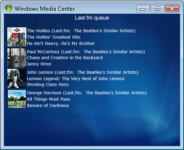 Escucha Last.fm desde el Media Center de Windows Vista con MceFM