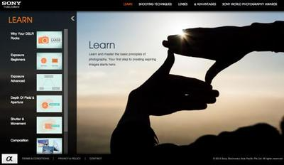 Sony lanza un nuevo sitio online para iniciarse en la fotografía