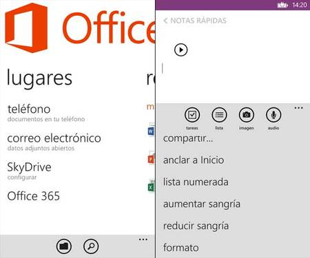 Windows Phone 8 Emulador Office