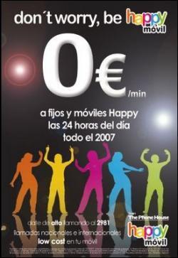 Happy Móvil ofrece llamadas gratis a fijos todo el 2007