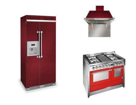 Electrodomésticos para cocinas con color