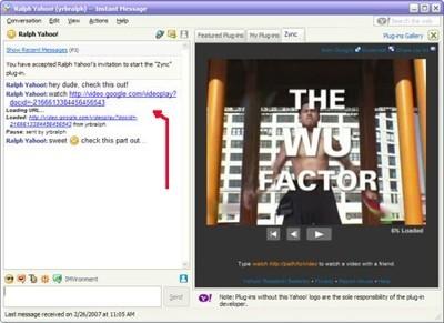 Zync permite ver vídeo sincronizado en Yahoo! Messenger