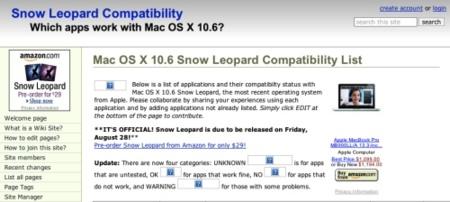 ¿Están preparadas tus aplicaciones para Snow Leopard?