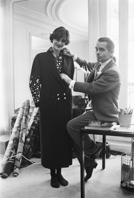 Ines De La Fressange Karl Lagerfeld Chloe 1983