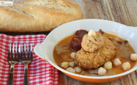 Receta de croquetas gourmet de callos con hummus de chorizo, de Chema Soler