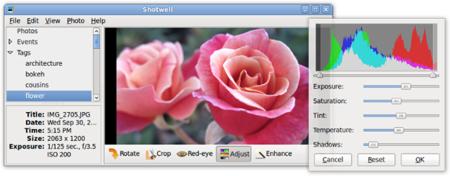 Shotwell, edición de imagenes