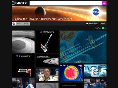 La NASA comparte decenas de imágenes y GIFs espaciales en Giphy y Pinterest