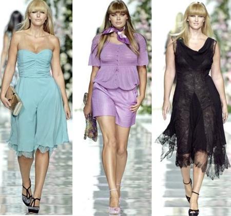 Ropa para mujeres con curvas en la Semana de la Moda de Milán: Elena Mirò primavera-verano 2009