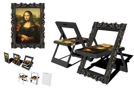 Silla Mona Lisa, arte transformable