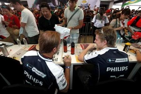 Williams F1 se deshace en elogios con Nico Hülkenberg y Rubens Barrichello