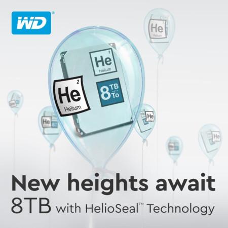 Ahora sí, WD pone a nuestro alcance discos duros de 8TB llenos de helio