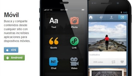 Tumblr incorpora publicidad en sus aplicaciones móviles