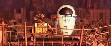 Wall-e y Eva, uno encendido y la otra apagada, ejem