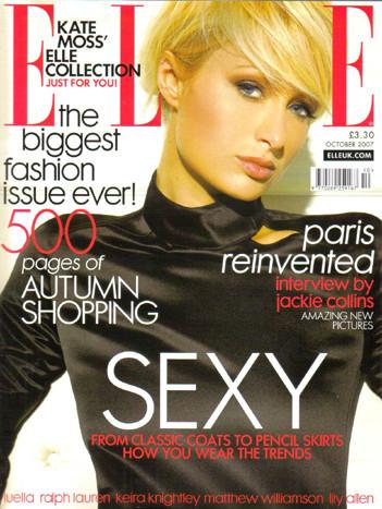 Paris Hilton en la revista Elle