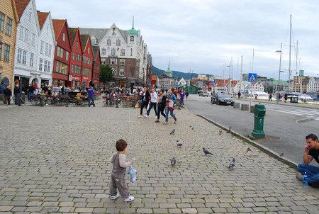 Bryggen, el barrio portuario de Bergen en Noruega