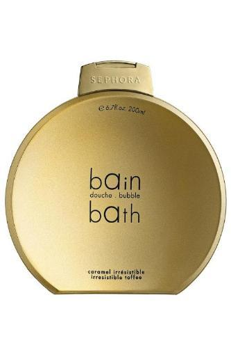 Brillos dorados en la colección de baño Navidad 2009 de Sephora