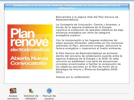 Adhiere tu comercio al Plan Renove Electrodomésticos de Andalucía
