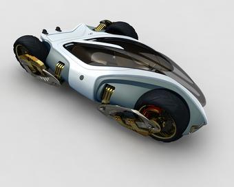 Magic Tricycle, un concepto trike-moto transformable