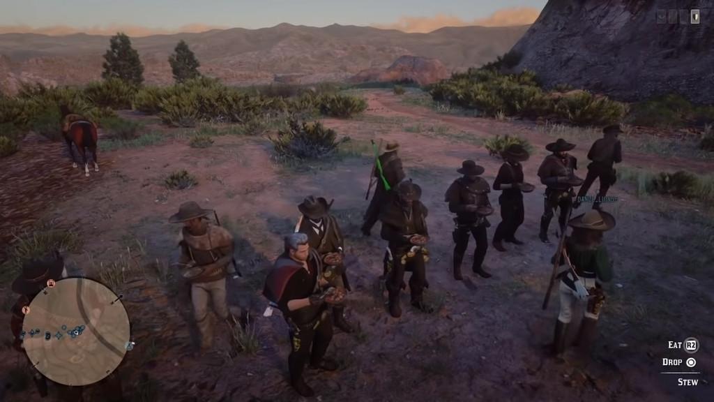 Así ha sido el extraño y difícil viaje de los jugadores de Red Dead Online que quisieron cruzar el mapa con un plato de estofado