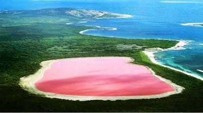 Hillier, un lago rosa en Australia