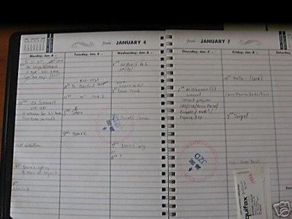 La agenda de DeLorean, a la venta en eBay
