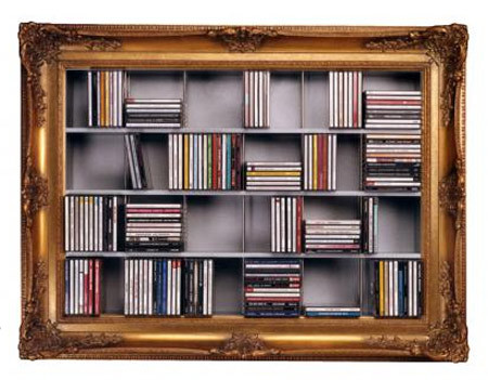 Un marco para guardar CDs
