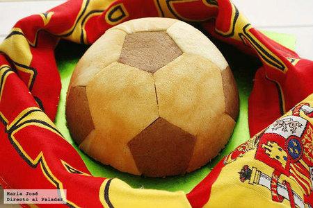 Pastel balón de fútbol. Receta