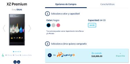 Sony Xperia Xz Premium Mexico Telcel Precio