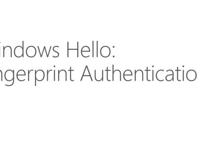 El soporte a la lectura de huellas dactilares llegará a Windows con la Anniversary Update