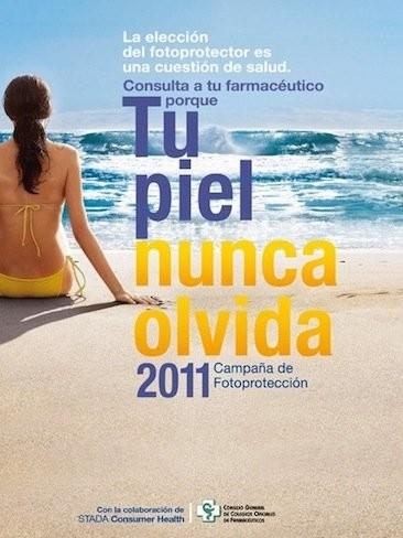 """""""Fotoprotección 2011: tu piel nunca olvida"""", campaña para la correcta protección solar"""