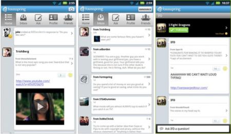 Formspring tiene su aplicación de Android, ahora podrás preguntar cosas sin sentido desde la comodidad de tu móvil