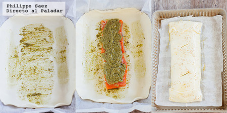 Hojaldre Salmon Pesto Receta