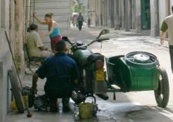 Sidecar en Cuba