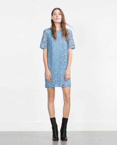 Vestido de encaje azul