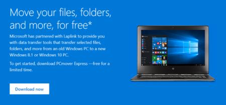 Microsoft facilita la migración a PCs con Windows 10 ofreciendo gratis PCmover Express