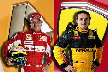 Robert Kubica a Ferrari y Felipe Massa a Sauber